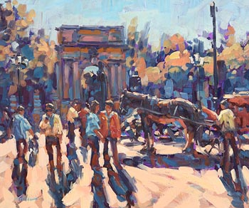 Norman Teeling, St Stephen's Green, Dublin at Morgan O'Driscoll Art Auctions