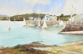 Annemarie Bourke, The Pink Sail, Baltimore at Morgan O'Driscoll Art Auctions