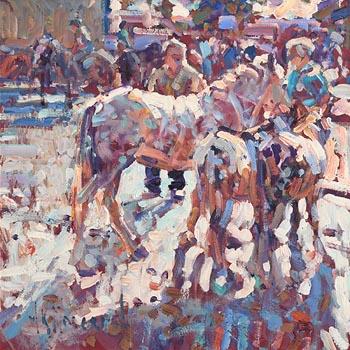 Arthur K. Maderson, September Evening, Tallow Horse Fair at Morgan O'Driscoll Art Auctions