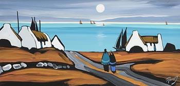 J.P. Rooney, Moonlight Cottages at Morgan O'Driscoll Art Auctions