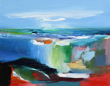 Majella O'Neill Collins, West Cork Seascape (2015) at Morgan O'Driscoll Art Auctions