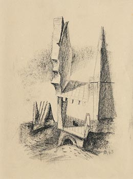 Colin Middleton, Building (1943) at Morgan O'Driscoll Art Auctions