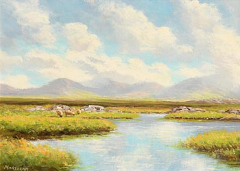 Gerard Marjoram, Saving the Hay at Morgan O'Driscoll Art Auctions