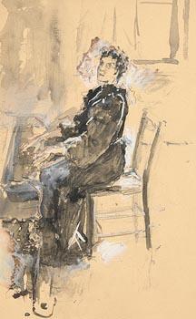 John Butler Yeats, Playing the Piano at Morgan O'Driscoll Art Auctions