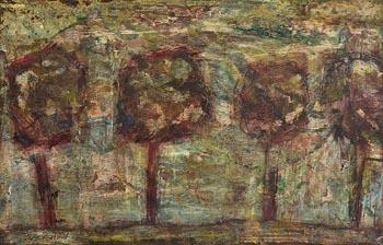 Basil Blackshaw, Trees Near Dunadry at Morgan O'Driscoll Art Auctions