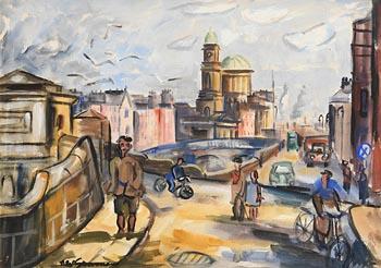 Norah McGuinness, Liffey Wall, Dublin at Morgan O'Driscoll Art Auctions
