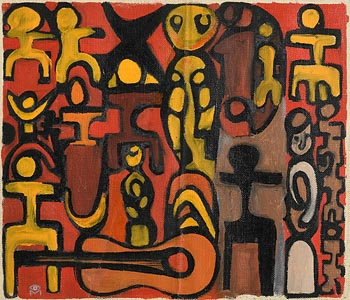 Colin Middleton, Concert (1960's) at Morgan O'Driscoll Art Auctions