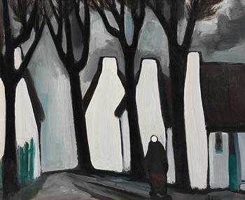 Markey Robinson, Hurrying from the Storm at Morgan O'Driscoll Art Auctions