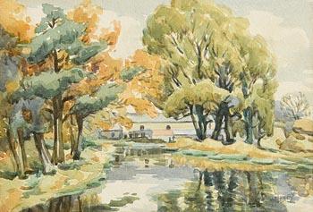 Marjorie Henry, River Bush at Bushmills Distillery at Morgan O'Driscoll Art Auctions
