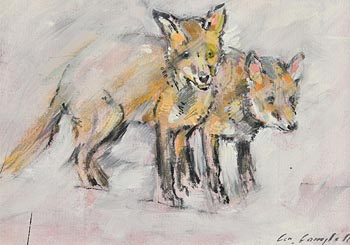 Con Campbell, Fox Cubs at Morgan O'Driscoll Art Auctions