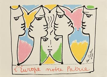 Jean Cocteau, Europe: Mother Country at Morgan O'Driscoll Art Auctions