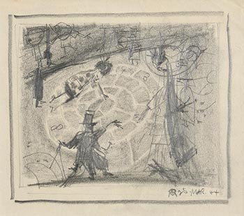 Colin Middleton, The Surreal Entertainer (1944) at Morgan O'Driscoll Art Auctions