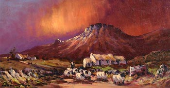 William Cunningham, Tending the Sheep, Co. Sligo at Morgan O'Driscoll Art Auctions