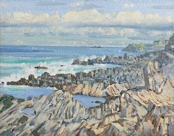 Liam Proud, Rocks at Sandycove at Morgan O'Driscoll Art Auctions
