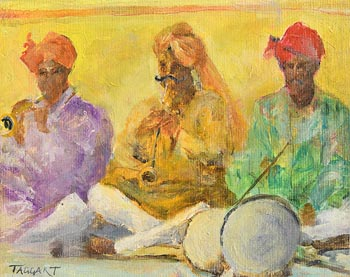 Elizabeth Taggart, Musicians at Japour at Morgan O'Driscoll Art Auctions