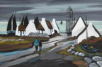 J.P. Rooney, The Watchtower at Morgan O'Driscoll Art Auctions