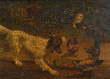 Gleeson White, Feeding Time at Morgan O'Driscoll Art Auctions