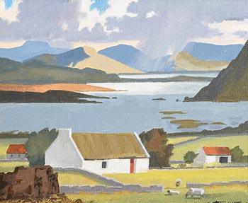 John Francis Skelton, Con na Meara Homestead, Galway at Morgan O'Driscoll Art Auctions