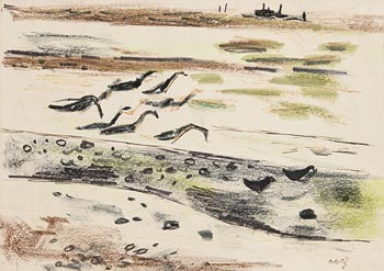 Norah McGuinness, Geese at Sutton at Morgan O'Driscoll Art Auctions