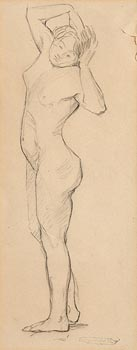 Mary Swanzy, Standing Nude at Morgan O'Driscoll Art Auctions