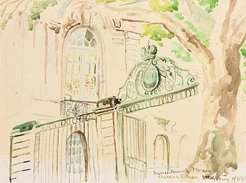 Francis Bunch Moran, Chateau Rohan Strasburg (1953) at Morgan O'Driscoll Art Auctions