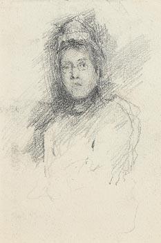 John Butler Yeats, Female Portrait at Morgan O'Driscoll Art Auctions