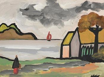 Markey Robinson, Shawlie by the Shore at Morgan O'Driscoll Art Auctions