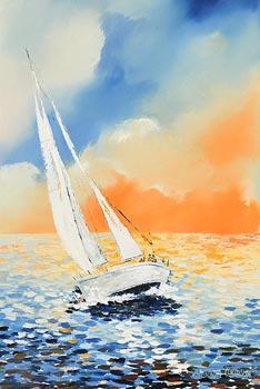 Hannah O'Hanlon, Full Sail at Morgan O'Driscoll Art Auctions