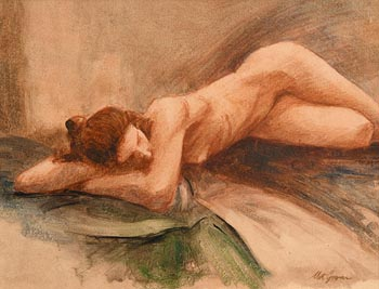 Mat Grogan, Female Nude, Resting at Morgan O'Driscoll Art Auctions