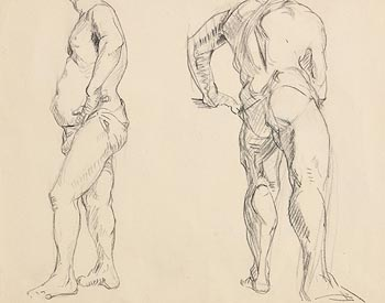 Mary Swanzy, Two Studies of a Semi-Nude Model at Morgan O'Driscoll Art Auctions