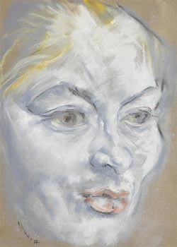 Harry Kernoff, Female Portrait at Morgan O'Driscoll Art Auctions