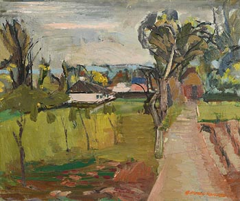 George Hodgkinson, White Bungalow at Morgan O'Driscoll Art Auctions