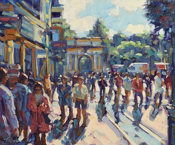 Norman Teeling, Grafton Street, Dublin at Morgan O'Driscoll Art Auctions