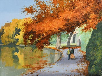 John Francis Skelton, Autumn Rust, St Stephen's Green at Morgan O'Driscoll Art Auctions