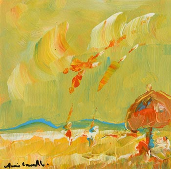 Marie Carroll, At the Beach at Morgan O'Driscoll Art Auctions