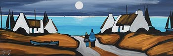 J.P. Rooney, Our Homes on Moonlit Bay at Morgan O'Driscoll Art Auctions