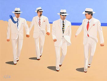 Ken O'Neill, The Gangsters at Morgan O'Driscoll Art Auctions