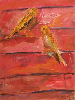 Basil Blackshaw, Yellow Birds at Morgan O'Driscoll Art Auctions