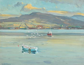 Robert Taylor Carson, Evening, Mulroy Bay (1985) at Morgan O'Driscoll Art Auctions