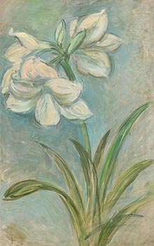 Stella Steyn, White Amaryllis at Morgan O'Driscoll Art Auctions