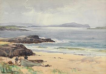 Frank McKelvey, Preparing the Boat at Morgan O'Driscoll Art Auctions