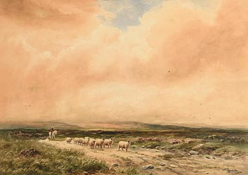 Wycliffe Egginton, Driving Sheep at Morgan O'Driscoll Art Auctions
