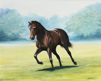 June Brilly, Early Morning Gallop at Morgan O'Driscoll Art Auctions