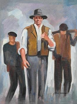John Skelton, Three Aran Fishermen (1962) at Morgan O'Driscoll Art Auctions