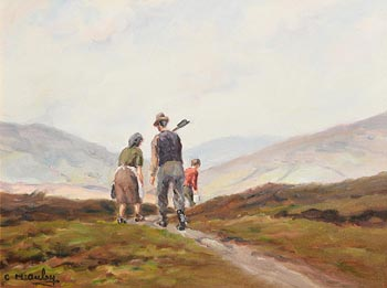 Charles J. McAuley, Home from the Bog at Morgan O'Driscoll Art Auctions