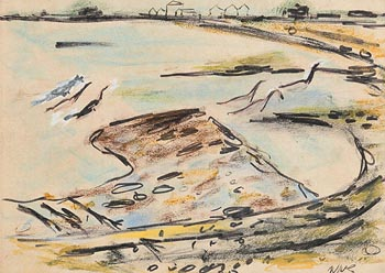 Norah McGuinness, Geese at Sutton  Cross at Morgan O'Driscoll Art Auctions