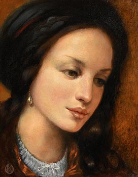 Ken Hamilton, Girl with a Teardrop Earring at Morgan O'Driscoll Art Auctions