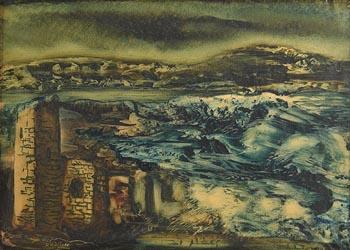 Daniel O'Neill, Heavy Seas, Falcarragh, Co Donegal at Morgan O'Driscoll Art Auctions