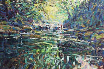 Arthur K. Maderson, Stroud Pool, Near Lismore at Morgan O'Driscoll Art Auctions