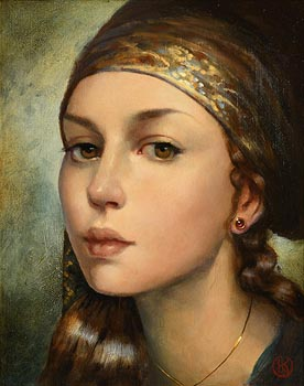 Ken Hamilton, Girl with Ruby Earrings at Morgan O'Driscoll Art Auctions